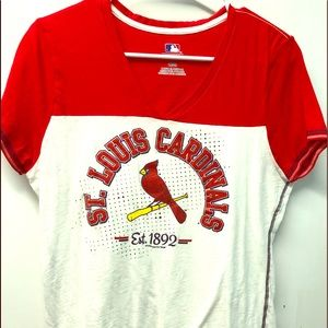 Tops - 3 for $12! St Louis Cardinals Large Ladies Top
